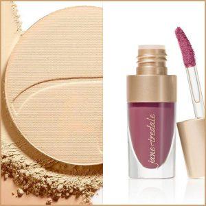 Puder prasowany i lip fixation jane Iredale Zestaw makijaż naturalny